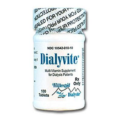 Dialyvite Multivitamin Supplement for Dialysis Health (HP10) Multivitamin for Dialysis Patients Mountainside-Healthcare.com Dialyvite RX, Hillestad Pharmaceuticals, HP10, Multivitamin for Dialysis Patients