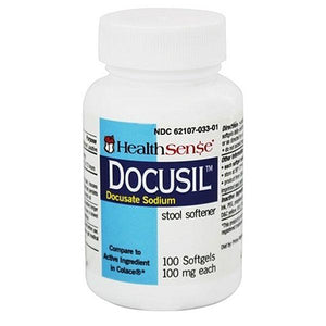 Buy Docusil Docusate Sodium Stool Softener online used to treat Stool Softener Laxative - Medical Conditions