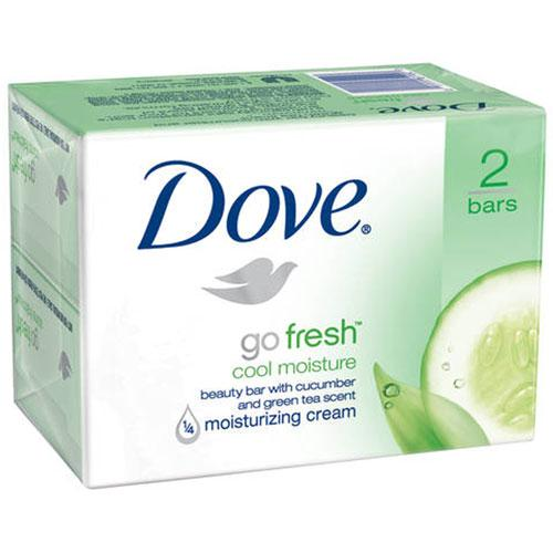 Dove Go Fresh Cool Moisture Beauty Bar Soap, 2-Pack Body Soap Mountainside-Healthcare.com Bar Soap, Cucumber, Dove, Green Tea, Moisturizing Bar Soap, skin care, Soap