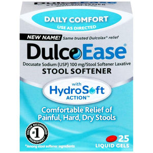 Buy DulcoEase Stool Softener with HydroSoft Action online used to treat Stool Softener Laxative - Medical Conditions