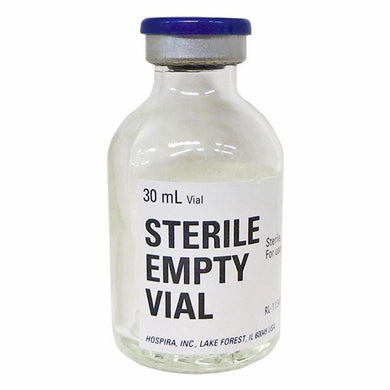 Hospira Sterile Empty Vial 30 mL