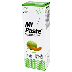 MI Paste Melon Flavor with Recaldent 40 Gram Tube MI Paste Mountainside-Healthcare.com Great tasting, Melon, MI, MI Paste, Oral Health, Oral Paste, Recaldent, Teeth, tooth enamel