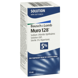 Muro 128 Sodium Chloride Hypertonicity Ophthalmic Solution 5% Eye Health Mountainside-Healthcare.com Bausch & Lomb, Blurry Eyes, Cornea, Eye Irriation, Eye Solution, Muro 128, Ophthalmic, Sodium Chloride