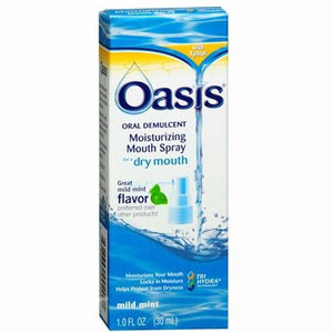 Oasis Moisturizing Dry Mouth Spray, Mild Mint Flavor Dry Mouth Treatment Mountainside-Healthcare.com dry mouth relief, dry mouth treatment