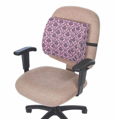 Lumbar Support Cushion Pillow, Pink Damask Lumbar Cushions Mountainside-Healthcare.com