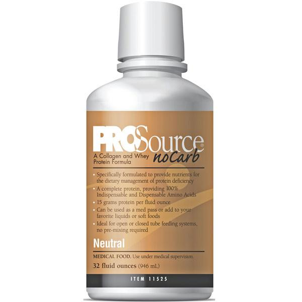 Buy ProSource NoCarb Liquid Protein Supplement, 32 oz Bottle Neutral online used to treat Protein Supplement - Medical Conditions