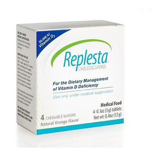 Replesta Cholecalcifer Wafer 50,000 IU Vitamin D3 Deficiency Chewable, Orange Flavor Vitamin D Deficiency Supplement Mountainside-Healthcare.com Chewable Orange Flavor, Replesta, Replesta Cholecalciferol, Vitamin D Deficiency Supplement, Wafers