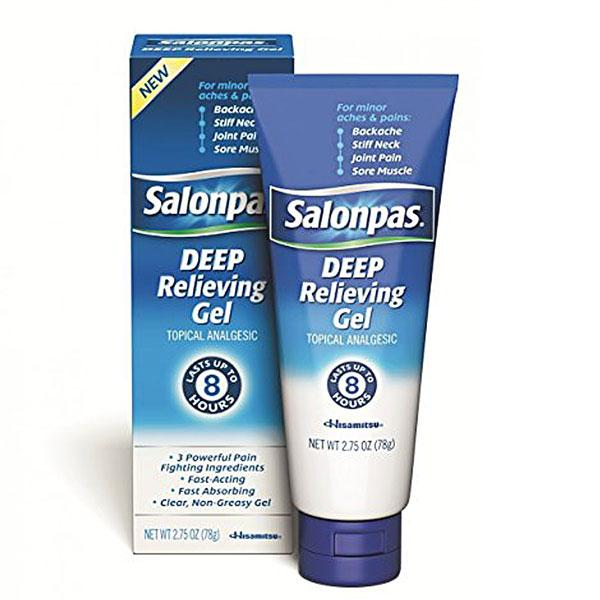 Buy Salonpas Deep Pain Relieving Gel online used to treat Analgesic Joint & Muscle - Medical Conditions