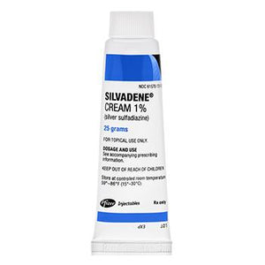 Silvadene Cream 1% (Silver Sulfadiazine) 25 grams Burn Treatment Cream Mountainside-Healthcare.com Burn Cream, Silvadene Cream 1, silver sulfadiazine cream
