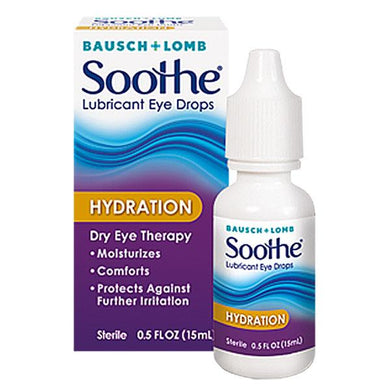 Soothe Hydration Lubricant Eye Drops Lubricating Eye Drops Mountainside-Healthcare.com Bausch & Lomb, Lubricating Eye Drops, Soothe Hydration Eye Drops
