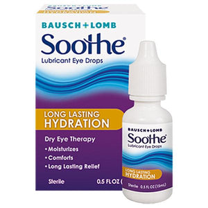 Soothe Long Lasting Dry Eye Relief Lubricant Eye Drops Lubricating Eye Drops Mountainside-Healthcare.com Bausch & Lomb, Dry Eye Therapy, Lubricating Eye Drops