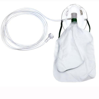Adult Non-Rebreathing Oxygen Mask with 7' tubing, Universal Connector Oxygen Masks Mountainside-Healthcare.com Non rebreathing oxygen mask, Reservoir bag, Teleflex Medical