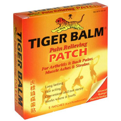 Tiger Balm Pain Relieving Patches, 5pk Pain Relief Patches Mountainside-Healthcare.com Pain Relief Patches, Pain Reliever, Tiger Balm Patches