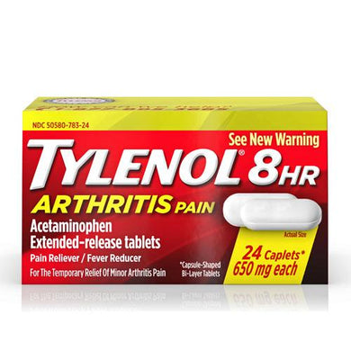Tylenol 8 Hour Arthritis Pain Relief Extended Release Caplets, 650 mg Arthritis Pain Relief Mountainside-Healthcare.com Acetaminophen 650 mg, Arthritis Pain Relief, Tylenol pain Relief