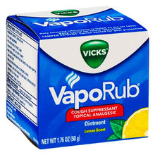 Buy Vicks VapoRub Cough Suppressant Topical Analgesic Ointment Lemon Scent online used to treat Cough Suppressant - Medical Conditions
