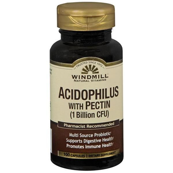 Windmill Natural Probiotic Acidophilus with Pectin 1 Billion CFU Probiotic Mountainside-Healthcare.com Acidophilus with Pectin, Digestive Health, Probiotic Acidophilus, Windmill