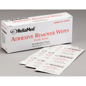Buy ReliaMed Adhesive Remover Wipes 50 Count online used to treat Adhesive Bandages - Medical Conditions