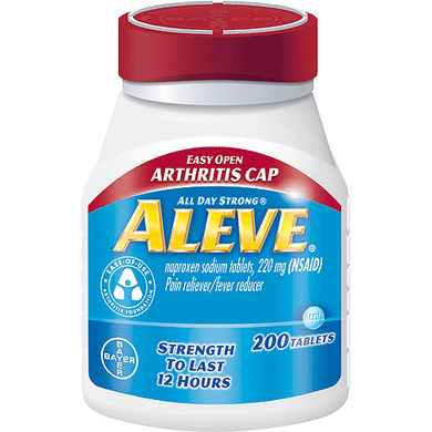 Aleve Arthritis Easy Open Cap with Soft Grip Bottle, 200 Tablets Arthritis Mountainside-Healthcare.com Aleve, Arthritis pain, Back Pain, Backaches, Easy to Open, Headaches, Naproxen Sodium, Pain Relief, Soft Grip, Toothaches