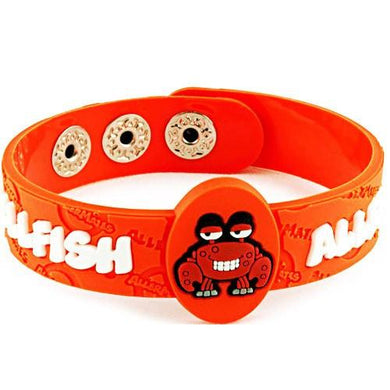 AllerMates Crabby Shellfish Allergy Alert Wristband Allergy Relief Mountainside-Healthcare.com