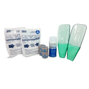 Ankle Sprain Treatment Kit Braces and Collars Mountainside-Healthcare.com ankle kit, ankle sprain, ankle treatment, mme160, sports injury, swollen ankle, twisted ankle