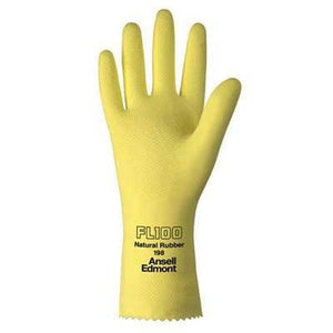 Ansell FL100 Yellow Chemical Resistant Latex Gloves Disposable Gloves Mountainside-Healthcare.com Gloves, Latex Gloves