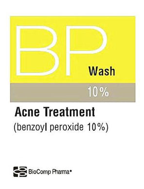 Biocomp Benzoyl Peroxide 10% Acne Wash 5 oz Acne Mountainside-Healthcare.com