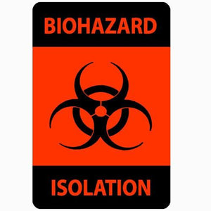 Biohazard Isolation Adhesive Labels 500/Roll Isolation Supplies Mountainside-Healthcare.com Adhesive Labels, Biohazard, Harmful, Hazardous wastes, Infectious, Isolation labels, Labels, Quarantines