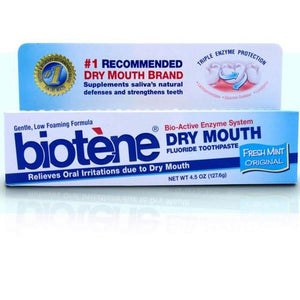 Biotene Dry Mouth Toothpaste, Original Fresh Mint Dry Mouth Treatment Mountainside-Healthcare.com Biotene, dry mouth treatment