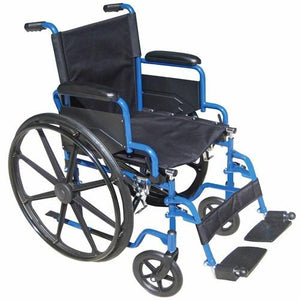 Blue Streak Wheelchair with Flip Back Arms Wheelchairs Mountainside-Healthcare.com Wheelchair