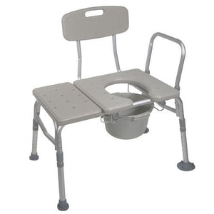 Buy Combination Transfer Bench with Commode Attached online used to treat Transfer Benches - Medical Conditions