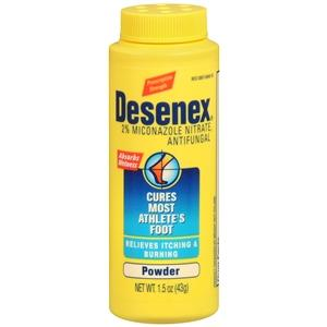 Desenex Antifungal Athlete's Foot Powder 1.5oz Athlete's Foot Mountainside-Healthcare.com Antifungal, Athletes Foot, Desenex, Foot Powder, Fungal Infection, Miconazole Nitrate, Powder, treat fungal infections