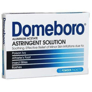 Domeboro Astringent Itch Relief Powder Packets 12/Box Insect Bites Mountainside-Healthcare.com