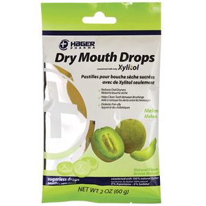 Hager Dry Mouth Treatment Natural Xylitol Drops 26/Bag Dry Mouth Treatment Mountainside-Healthcare.com dry moth, throat drops, xylitol