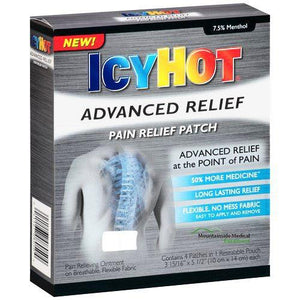 Icy Hot Advanced Relief Pain Patches 4 Pack Pain Relief Patches Mountainside-Healthcare.com Icy Hot Patches, Pain Relief Patches, Relieve Muscle Pain, Shaq