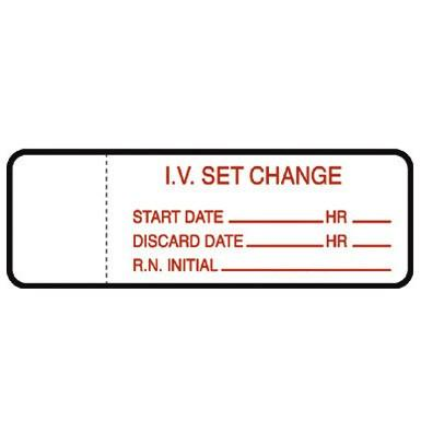 IV Set Change Labels 1000/Roll IV Administration Sets Mountainside-Healthcare.com