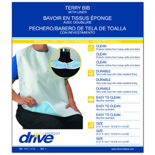 Buy Lifestyle Terry Cloth Washable Dinning Bibs online used to treat Adult Eating Bibs - Medical Conditions