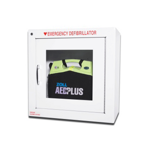 Buy Metal Wall Defibrillator Cabinet with Alarm for Zoll AED Plus online used to treat Defibrillators - Medical Conditions