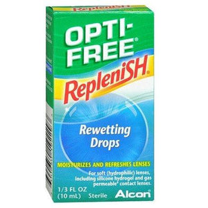 Opti-Free Replenish Rewetting Contact Lens Drops Eye Products Mountainside-Healthcare.com Contact Lens, Eye Drops, Lens, Opti Free, Rewetting