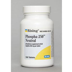 Phospha 250 Neutral Tablets Urinary Acidifier Mountainside-Healthcare.com Kidney Stones