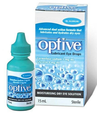 Refresh Optive Lubricant Eye Drops 2 x 15 mL Lubricant Eye Drops Mountainside-Healthcare.com Lubricant Eye Drops, Optive, Relieve Eye Irritation, Relieve Eye Redness