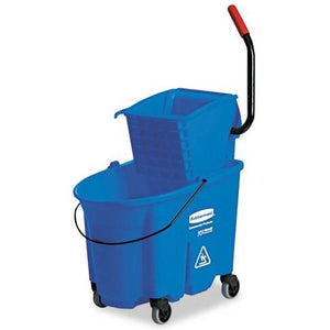 Buy Rubbermaid WaveBrake Commercial Bucket with Side-Press Wringer, Blue online used to treat Cleaning & Maintenance - Medical Conditions