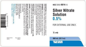 Silver Nitrate Solution 0.5% Silver Nitrate Sticks Mountainside-Healthcare.com advanced wound care, antimicrobial agent, silver nitrate solution