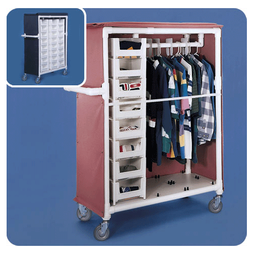 Buy Deluxe Garment Rack Distribution Cart online used to treat Isolation Supplies - Medical Conditions
