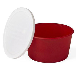 Stool Sample Fecal Specimen Cups, Red 250/Case Specimen Collector Mountainside-Healthcare.com blood in stool, lid, plastic cup, specimen collector, specimen cup, stool collector, stool cup, stool sample, test stool
