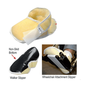 Buy Synthetic Sheepskin Foot Slippers online used to treat Wheelchair Accessories - Medical Conditions