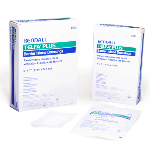 25 Telfa Plus Island Adhesive Dressings Island Wound Dressing Mountainside-Healthcare.com