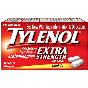 Tylenol Extra Strength Caplets 24 Count Pain Relievers Mountainside-Healthcare.com