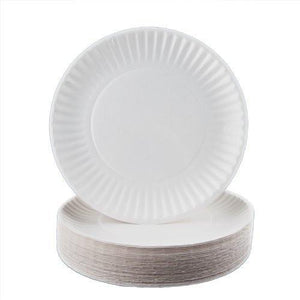 "Buy Biodegradable White Paper Plates 9"" (1000/ Bulk Case) online used to treat Disposable Paper Plates - Medical Conditions"