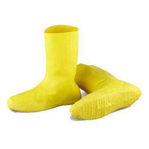 "Yellow Hazmat Boot Covers 12"" Isolation Supplies Mountainside-Healthcare.com"
