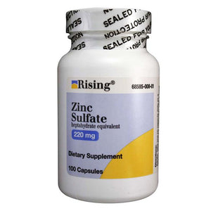 Zinc Sulfate 220mg Capsules Rising - Mountainside-Healthcare com